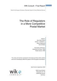 The Role of Regulators in a More Competitive Postal Market - crids