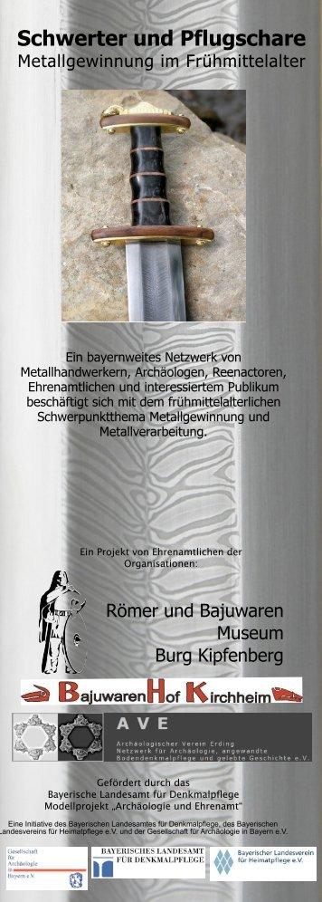 Flyer Metall - Römer und Bajuwaren Museum Burg Kipfenberg
