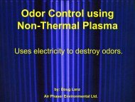 Non-Thermal Plasma Odor Control - Compost Council of Canada