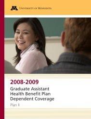 Graduate Assistant Health Benefit Plan Dependent Coverage