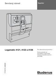 Servisný návod Logamatic 4121, 4122 a 4126 - Buderus
