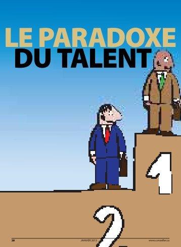 Le paradoxe du talent - Conseiller
