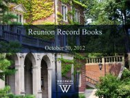 Record Book 1 - Wellesley College