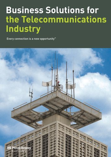 Telecommunications Business Solutions Brochure - Pitney Bowes