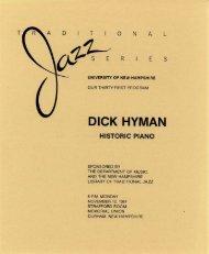 DICK HYMAN - University of New Hampshire