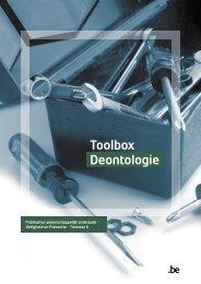 Toolbox Deontologie.pdf - Algemene Directie Veiligheid en Preventie
