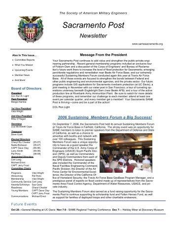 3Q2006 SAME Newsletter - SAME Sacramento