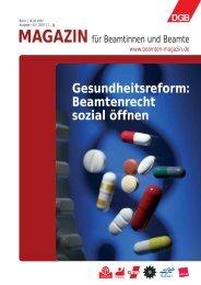 Gesundheitsreform: Beamtenrecht sozial öffnen - Landesbeamte