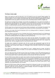 Lees hier de toespraak van Marco Pastors - Leefbaar Rotterdam