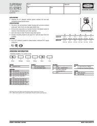 SUPERBAY EG SERIES - Hubbell Industrial Lighting