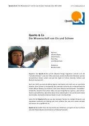 Quarks & Co Die Wissenschaft von Eis und Schnee