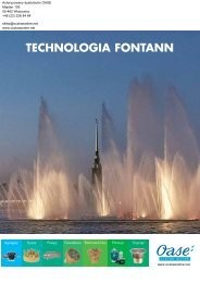 Katalog fontann Oase - Oczka wodne