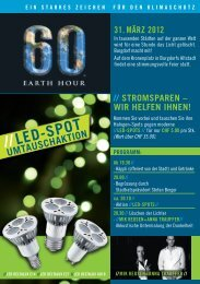 Flyer Earth hour - Burgdorf