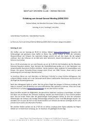Programm (PDF) - bentley drivers club – swiss region