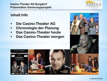 Inhalt Info • Die Casino-Theater AG • Chronologie der ... - Burgdorf
