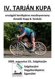 Tarján Kupa 2009 - Versenykiírás - Velo.hu