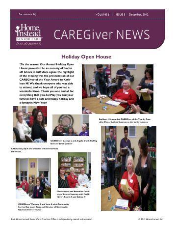 December 2012 Newsletter - Home Instead Senior Care