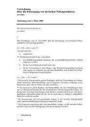 Verordnung über die Entsorgung von tierischen Nebenprodukten