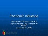 Pandemic Influenza - North Dakota Department of Public Instruction