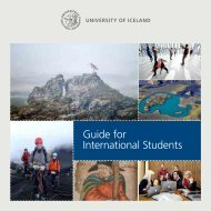 Guide for International Students 2013 - 2014 - University of Iceland