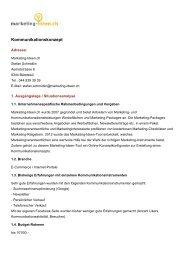 Kommunikationskonzept - Marketing-Ideen.ch