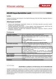 ADLER Aqua-Spritzfüller weiß 31010