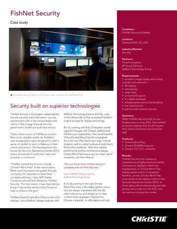 FishNet Security - Christie Digital Systems