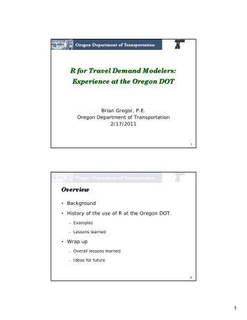 Gregor Presentation - TMIP Online