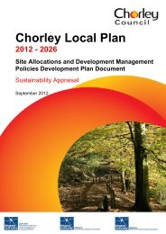 Sustainability Appraisal Report - Chorley Borough Council