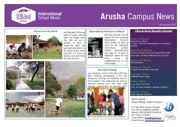 Arusha Campus News - International School Moshi