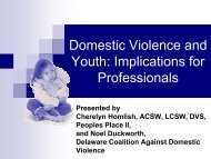 Domestic Violence and Youth - Delaware State Courts