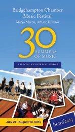 saturday soiree - Bridgehampton Chamber Music Festival
