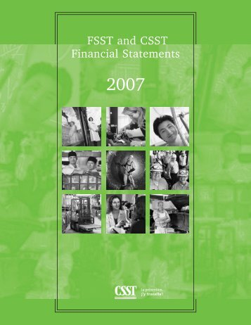 Download PDF (619 ko )FSST and CSST Financial Statements 2007