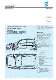 Aufrüstung der HYDRONIC D 5 W Z in OPEL Vectra C / Signum
