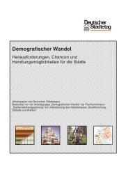 Demografischer Wandel - Deutscher Städtetag