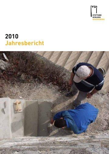 Jahresbericht 2010 - Stiftung Schloss Regensberg