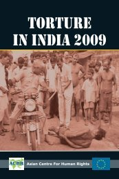 Report: Torture in India 2009 - Asian Centre for Human Rights