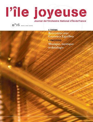 Téléchargez ici l'édition n° 16 (1952 Ko) - Orchestre national d'Ile-de ...