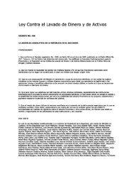 Ley Contra el Lavado de Dinero y de Activos - Consejo ...