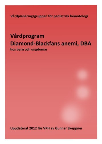 DBA Diamond-Blackfans anemi (rev 2012) - BLF