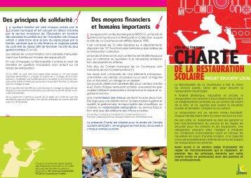 Charte de la restauration scolaire - Courneuve
