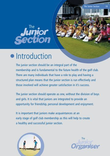 The Junior Section - England Golf