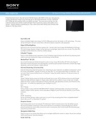 KDL-32EX720 - Quality TV Sales and Service