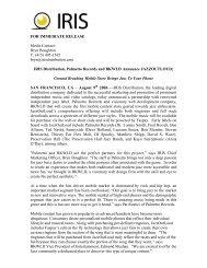 IRIS Distribution, Palmetto Records and BKWLD Announce ...