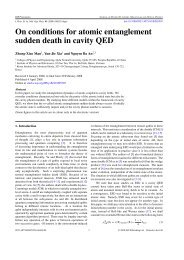 On conditions for atomic entanglement sudden death in cavity ... - KIAS