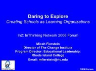 Creating Schools as Learning Organizations - In2:InThinking Network