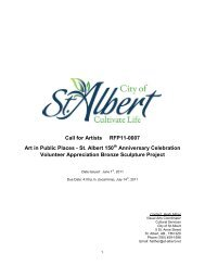 Call for Artists RFP11-0007 Art in Public Places ... - City of St. Albert