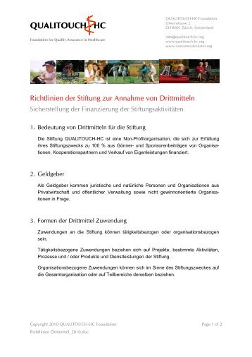 Richtlinien Drittmittel 2010 [PDF] - Qualitouch-HC