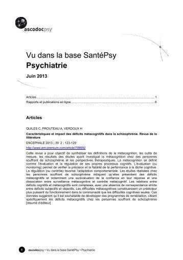 Psychiatrie - Ascodocpsy