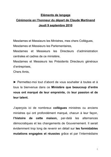 discours de Jean-Louis Borloo - cgedd